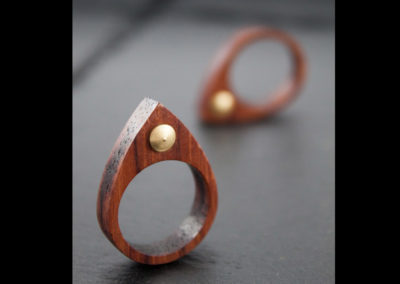 GOCCIA - Bubinga wood and Brass ring