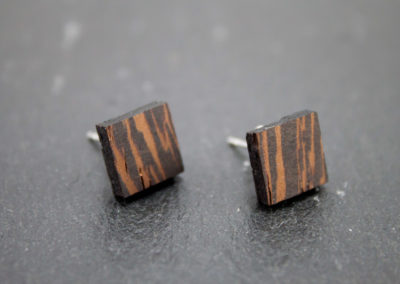 Logo square earrings