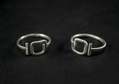 Altrosguardo Aurora adjustable square rings