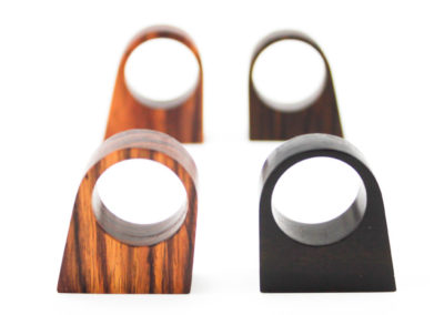 PRISMA PIATTO - Bois de violette and Ebony wood rings