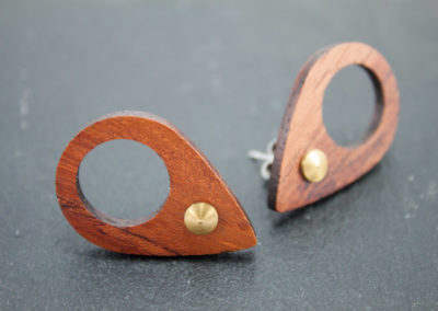 GOCCIA - Bubinga wood and Brass earrings