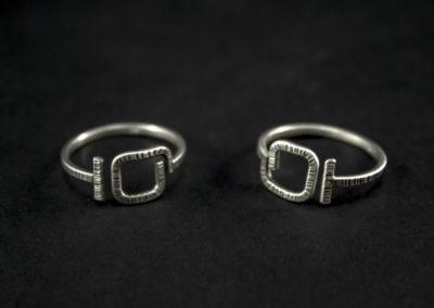 Altrosguardo Aurora adjustable square rings