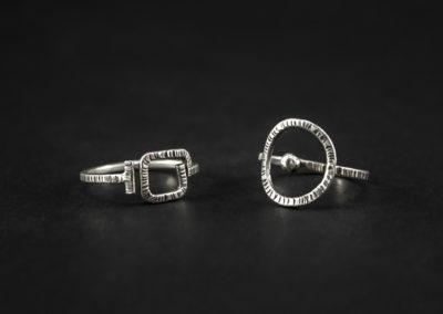 Gioielli Azoth: linea Aurora anelli in argento